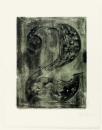 Jasper Johns, Figure 2, from Black Numeral Series, 1968