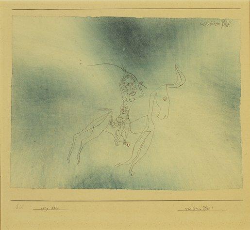 Paul Klee, Was für ein Pferd! (What a Horse!), 1929.