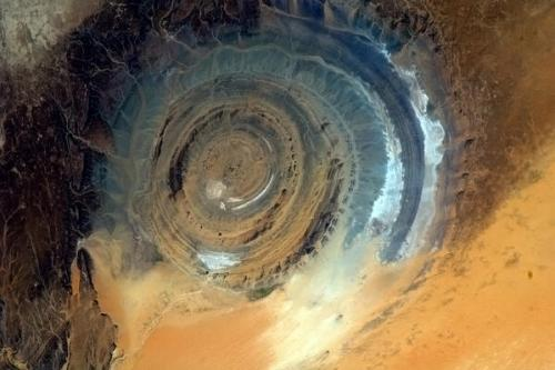 Tonight's Finale: The Richat Structure. A giant gazing eye upon the Earth.