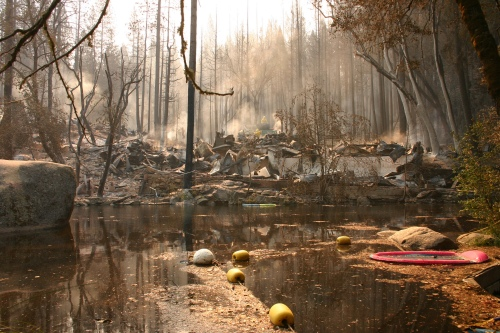 Damage at Berkeley Tuolumne Family Camp