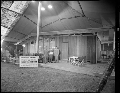 Residential lighting exhibit at a home show Joseph Fadler 1952