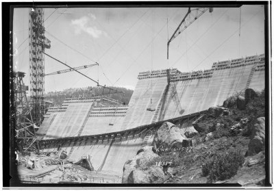 Big Creek, Shaver Lake Dam G. Haven Bishop 1927