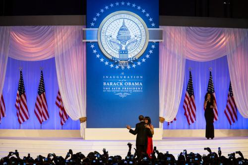 President Obama & @FLOTUS Michelle Obama dance together at the inaugural ball last night in Washington, DC: