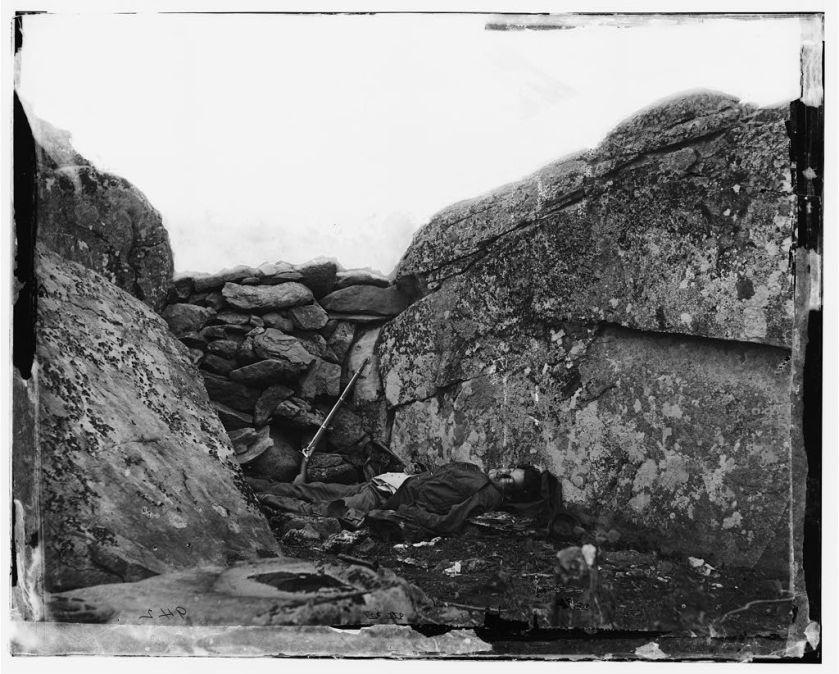 Alexander Gardner, The home of a Rebel Sharpshooter, Gettysburg