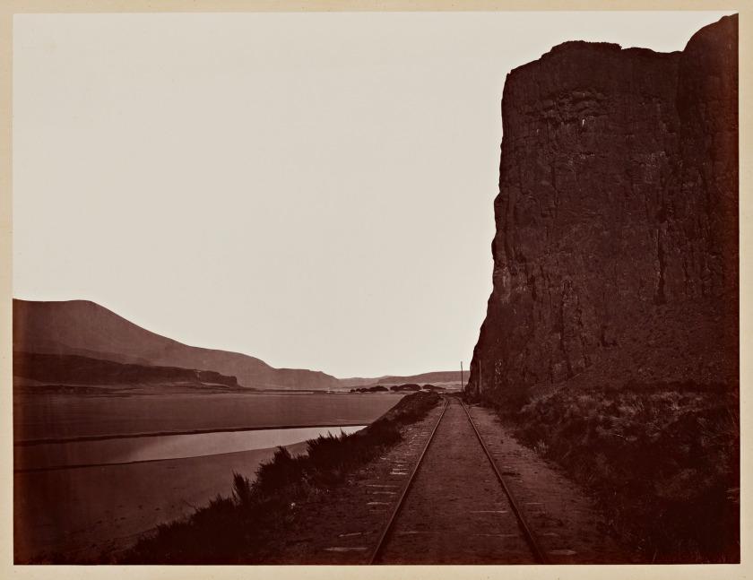 Carleton Watkins. Cape Horn near Celilo, 1867.