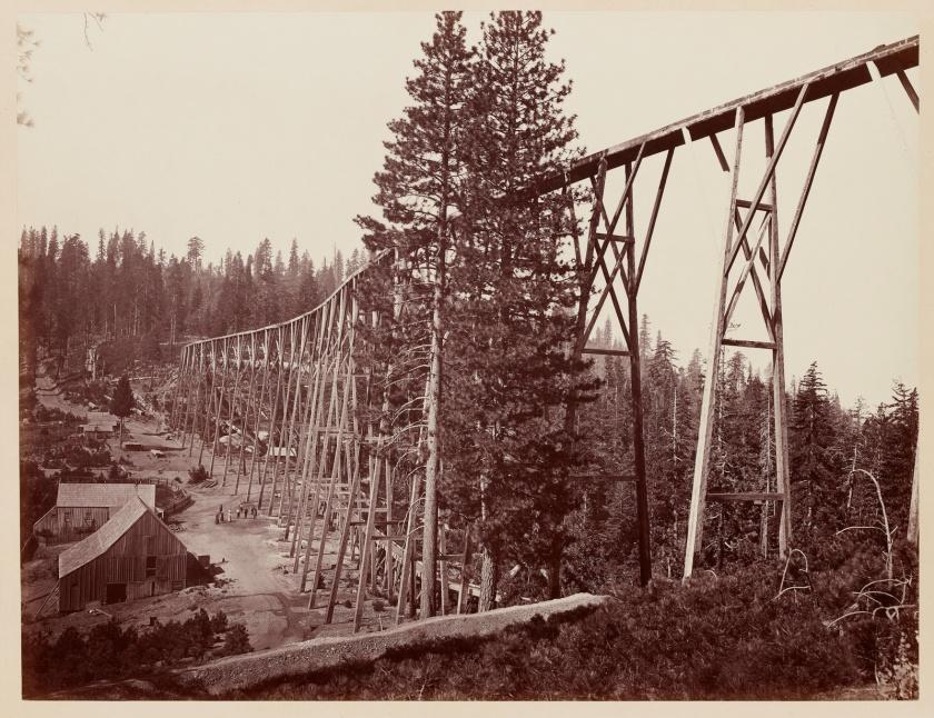 Carleton Watkins. Magenta Flume Nevada Co. Cal., c. 1871.