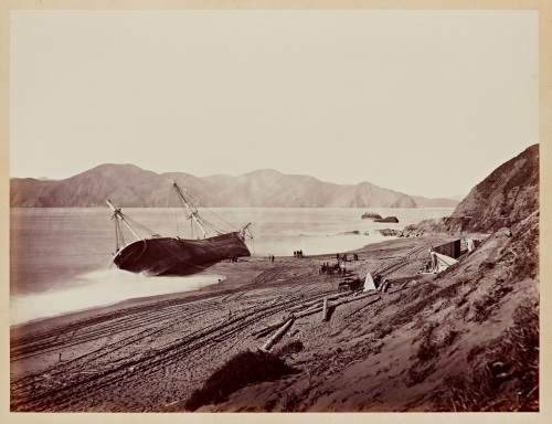Carleton Watkins. The Wreck of the Viscata, 1868.