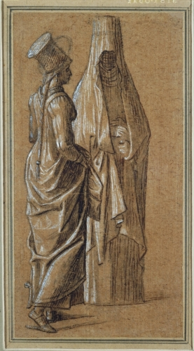 Vittore Carpaccio. Two Standing Women, One in Mamluk Dress