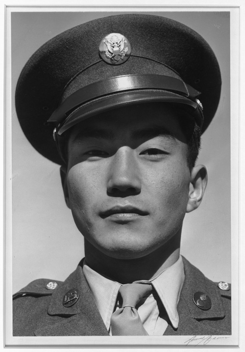 Ansel Adams. Manzanar Relocation Center, California. Corporal Jimmie Shohara.