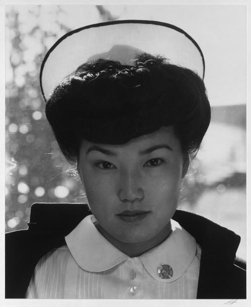 Ansel Adams. Manzanar Relocation Center, California. Nurse Aiko Hamaguchi.