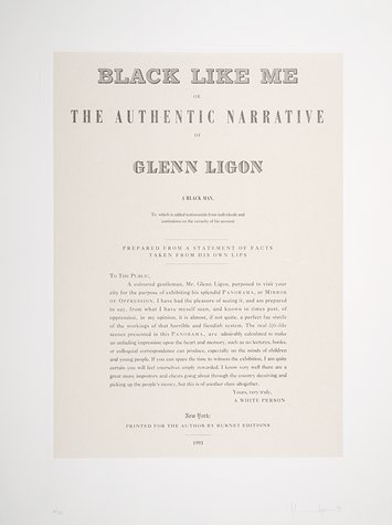 Glenn Ligon. Narratives 1993.