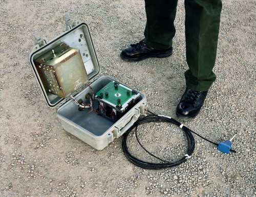 """David Taylor. Seismic Sensor, TX, 2007. From the series """"Working the Line"""