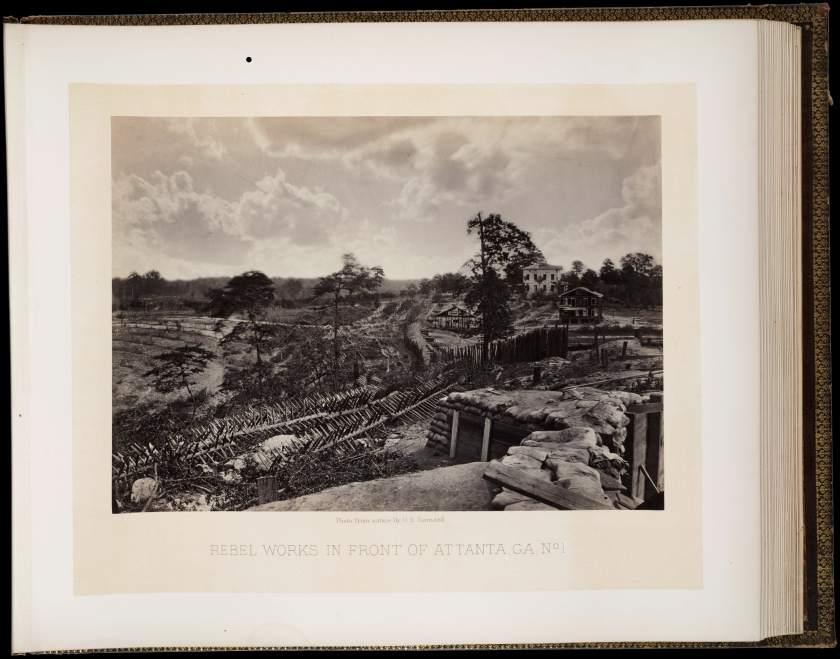 George N. Barnard. Rebel Works in Front of Atlanta, Ga., No. 1, 1864