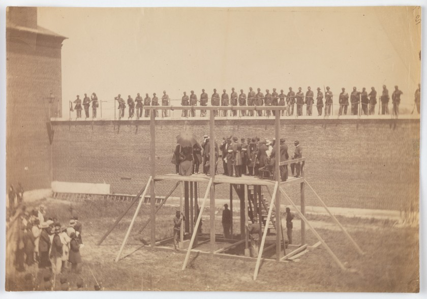 Alexander Gardner. Execution of the Conspirators.