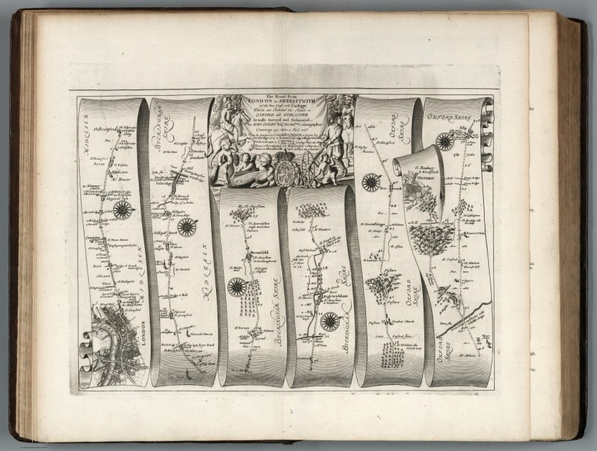 The Road from London to Aberistwith, in Britannia, Volume the First. Or an Illustration of the Kingdom of England and Dominion of Wales. John Ogilby. London: 1675