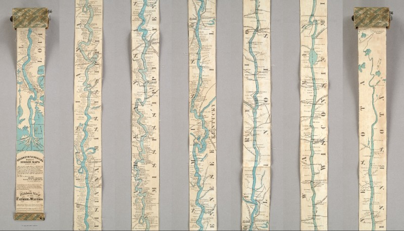 Coloney & Fairchild's Patent Ribbon Maps ... Ribbon Map of the Father of Waters. Coloney, Fairchild & Co. St. Louis: 1866
