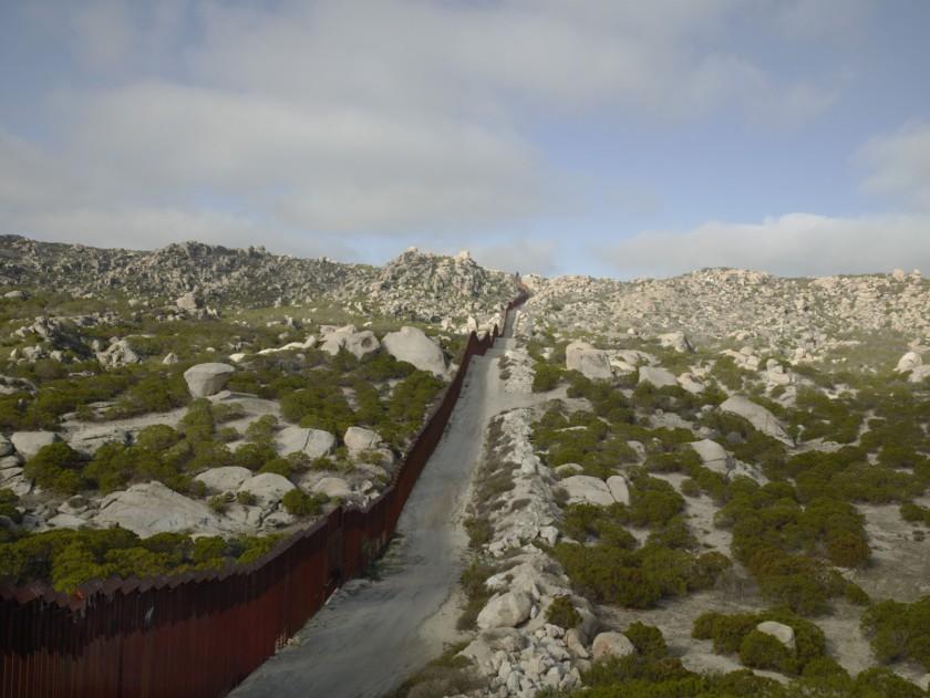 Richard Misrach. Wall, Tierra Del Sol, California, 2015.