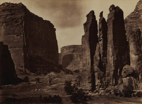 Timothy H. O'Sullivan, Cañon de Chelle, from Photographs Showing Landscapes, Geological and Other Features of Portions of the Western Territory of the United States, Obtained in Connection with Geographical and Geological Explorations and Surveys, 1871-1873