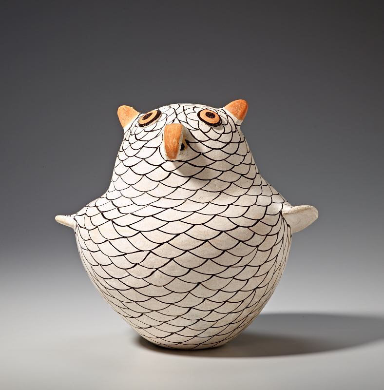 Lucy Lewis. Owl, 1966.