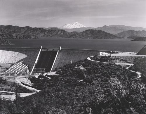 Ansel Adams. Shasta Dam and Mount Shasta, 1961.
