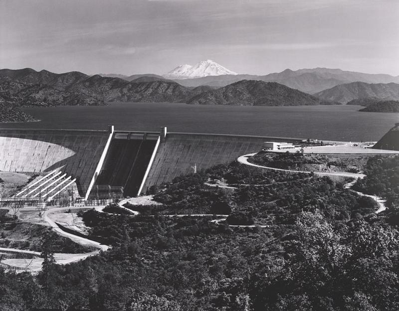 Ansel Adams. Shasta Dam and Mount Shasta, 1961.