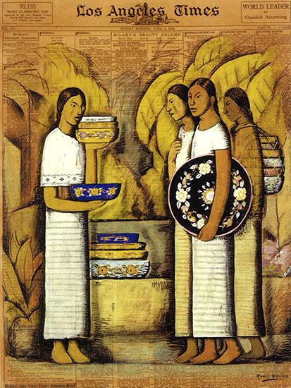 Pottery Vendors, 1934 Alfredo Ramos Martínez, Mexican, 1871–1946