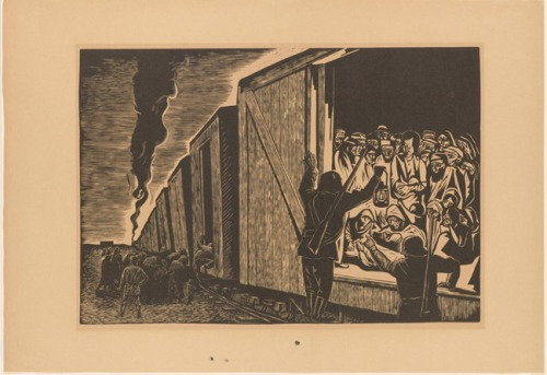 Deportation to Death. Leopoldo Méndez, Mexican, 1902 - 1969.