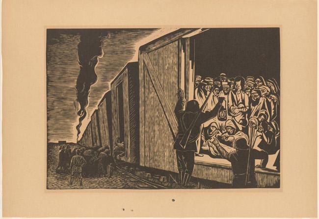 Deportation to Death. Leopoldo Méndez, Mexican, 1902 - 1969.