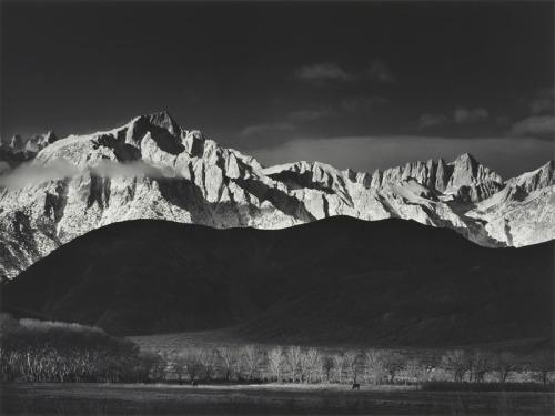 Ansel Adams. Winter Sunrise from Lone Pine.