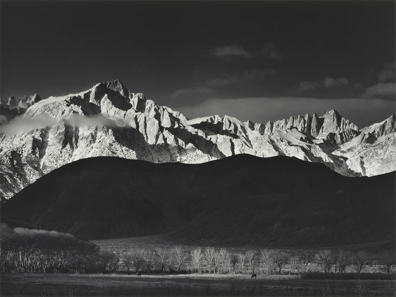 Ansel Adams. Winter Sunrise from Lone Pine.