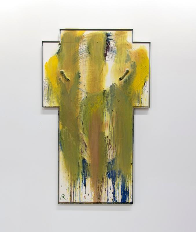 Arnulf Rainer, Helles Morgenkreuz (Bright Morning Cross), 1987.
