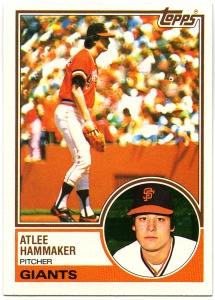 Atlee Hammaker 1983 Topps