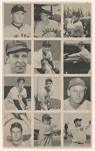 Uncut sheet, from the Baseball series (R406-1), issued by Bowman Gum Company http://www.metmuseum.org/art/collection/search/416575