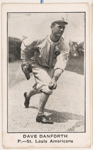Dave Danforth, Pitcher, St. Louis Americans, from the American Caramel Baseball Players series (E121) for the American Caramel Company http://www.metmuseum.org/art/collection/search/718249