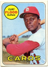 Curt Flood 1969 Topps