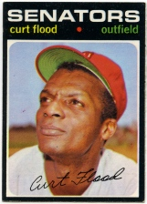 Curt Flood 1971 Topps