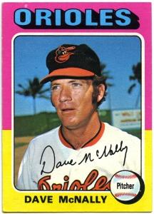 Dave McNally 1975 Topps