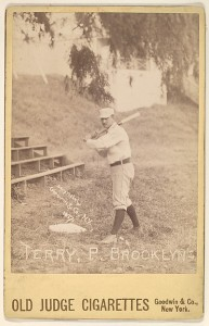 George Kelly, 1st Base, New York Nationals, from the American Caramels Baseball Players series (E122) for the American Caramel Company http://www.metmuseum.org/art/collection/search/400151