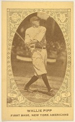 Wallie Pipp, First Base, New York Americans, from the American Caramel Baseball Players series (E120) for the American Caramel Company http://www.metmuseum.org/art/collection/search/428994