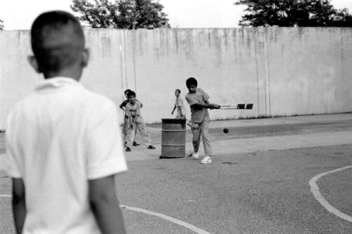 Robert Gerhardt. Children Playing Cricket in the Park, Brooklyn, NY, 2011