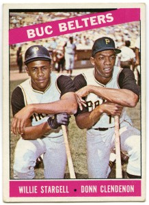 Buc Belters: Willie Stargell and Donn Clendenon 1966 Topps