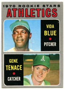 Vida Blue and Gene Tenace 1970 Topps