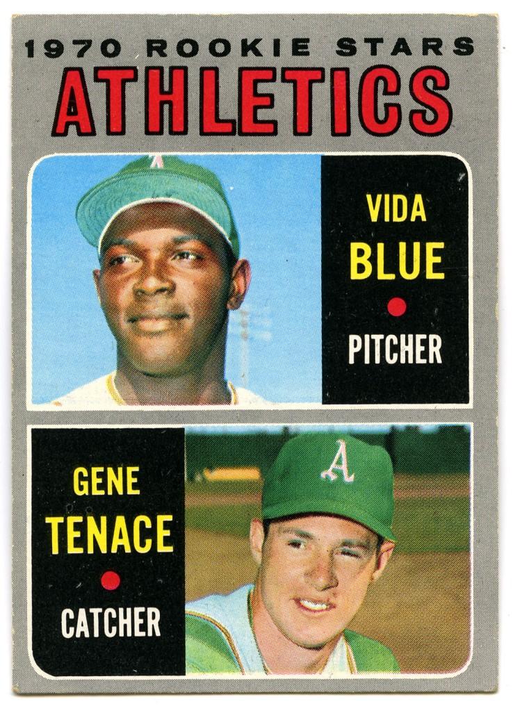 Vida Blue and Gene Tenace 1970 Topps