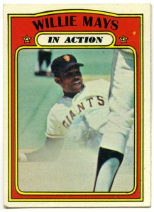 Willie Mays In Action 1972 Topps