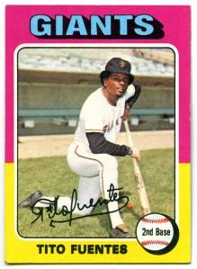 Tito Fuentes 1975 Topps