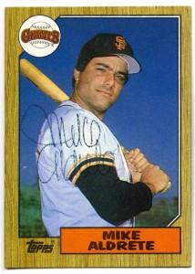 Mike Aldrete 1987 Topps