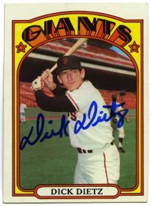 Dick Dietz 1972 Topps