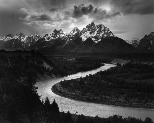 Ansel Adams Snake River, Grand Teton National Park, WY, 1942
