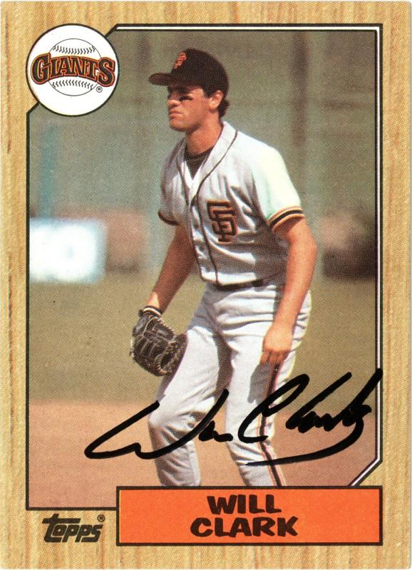 Will Clark 1987 Topps