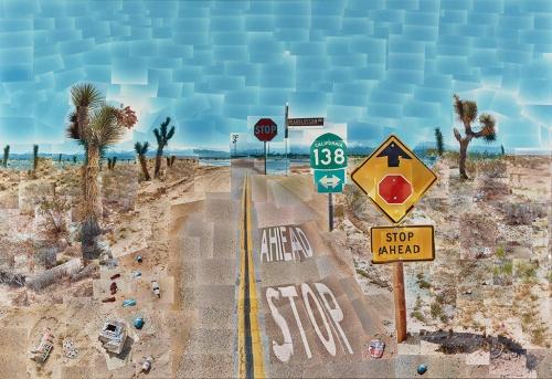 Pearblossom Hwy., 11 - 18th April 1986, #2; David Hockney